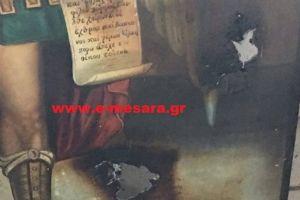 Φωτογραφίες: Βέβηλοι έγραψαν «Ο Αλλάχ είναι μεγάλος» σε εκκλησία στην Κρήτη