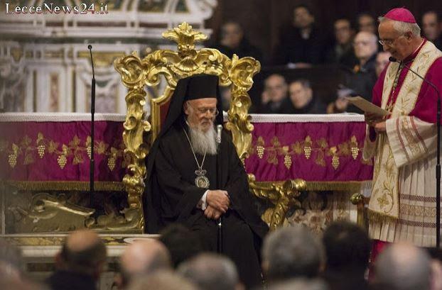 Ο Οικουμενικός Πατριάρχης στον Καθεδρικό Ναό του Λέτσε