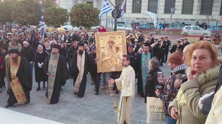 You are currently viewing Ο Πειραιάς υποδέχθηκε την Παναγία Πορταΐτισσα,από το Άγιο Όρος!