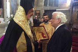 Ο Πρόεδρος της Δημοκρατίας στον Ι.Καθεδρικό Ναό του Αγίου Στεφάνου Παρισίων