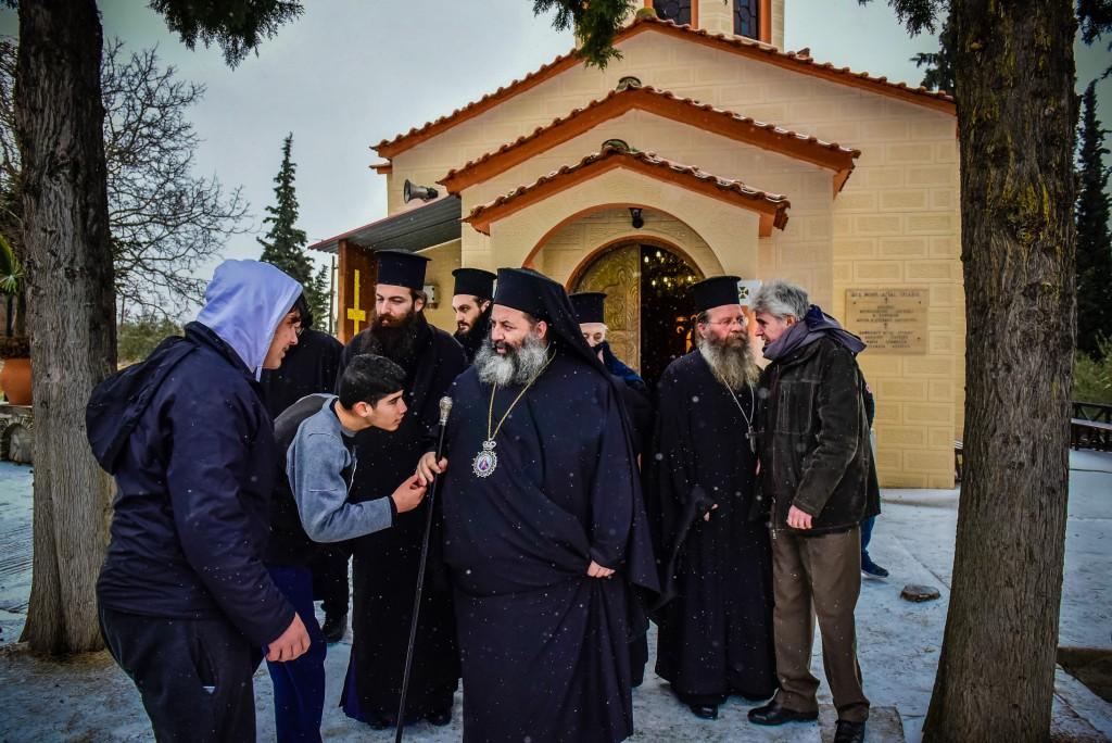 Ιερατική Σύναξηκαι Επίσκεψη των Μαθητών Γυμνασίου της Θεσσαλονίκης στην Ι. Μ. Λαγκαδά