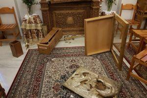 Βανδαλισμός από ιερόσυλους στον Ιερό Ναό του Αγίου Νικολάου Λαγυνών