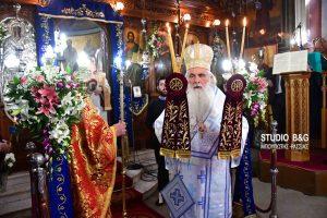 O Μητροπολίτης Αργολίδος στην εορτή της Υπαπαντής στα Λευκάκια Ναυπλίου