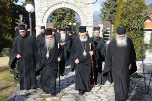 Οι Σεβασμιώτατοι Σπάρτης και Φωκίδος στα Μοναστήρια του Τρικόρφου