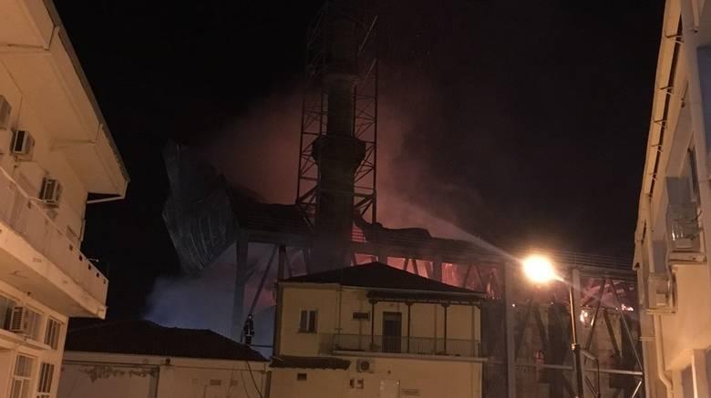 Πυρκαγιά στο Τέμενος Βαγιαζήτ