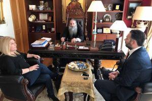 Τον Σεβασμιώτατο Μητροπολίτη Πειραιώς επισκέφθηκαν οι Γεωργία Γεννιά και Αλέξανδρος Αγγελόπουλος