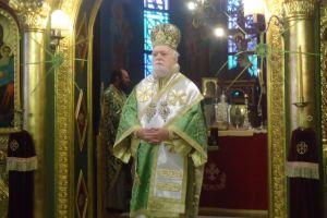 Ο Κορωνείας την Κυριακή των Βαΐων στην Αγ. Γλυκερία Γαλατσίου