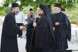 Ο  Μητροπολίτης Μεσσηνίας  εγκαινίασε Ι. Ναό στο Χατζή