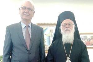 Ο Αρχιεπίσκοπος Αλβανίας στη Λάρισα