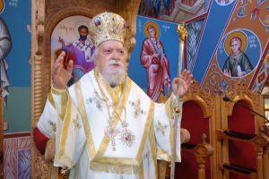 Ο Μητροπολίτης Κορωνείας στον Ι. Ναό Αγ. Αποστόλου Βαρνάβα Λευκωσίας