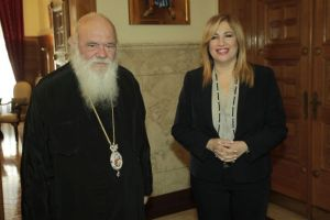 Συνάντηση του Αρχιεπισκόπου Ιερώνυμου με την Φώφη Γεννηματά
