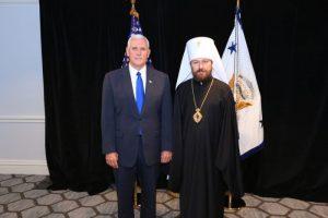 Συνάντηση του Μητροπολίτη Ιλαρίωνα με τον αντιπρόεδρο των ΗΠΑ
