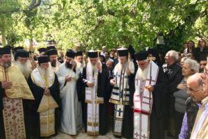 Η Εξόδιος Ακολουθία της Καθηγουμένης της Ιεράς Μονής Ιερουσαλήμ Δαυλείας