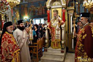Με μεγαλοπρέπεια πανηγύρισε o Ιερός Ναός του Αγίου Κωνσταντίνου Κολωνού