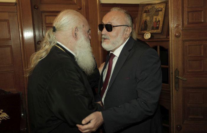 Συνάντηση του Αρχιεπισκόπου με τον Παναγιώτη Κουρουμπλή