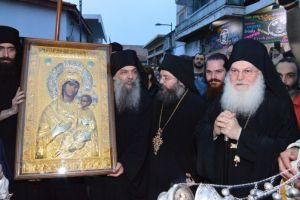 Η Λεμεσός υποδέχθηκε πιστό αντίγραφο της Παναγίας Βηματάρισσας από το Βατοπαίδι