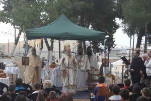 Υπαίθρια Θεία Λειτουργία στον «Κήπο των Ευχών»