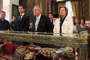 Η Βασιλική Οικογένεια προσκυνητές στην Αγία Ελένη