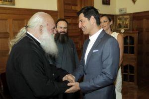 Ηλίας Ψινάκης και Σάκης Ρουβάς έλαβαν την ευλογία του Αρχιεπισκόπου