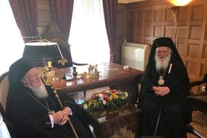 Ο Πατριάρχης Βαρθολομαίος συναντήθηκε με τον Αρχιεπίσκοπο – Τι ευχήθηκε στον Πρωτοσύγκελο
