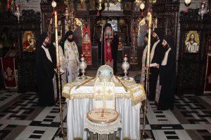 Τεσσαρακονθήμερο μνημόσυνο του Μητροπολίτη Σικάγου στο Μοναστήρι του Τρικόρφου Φωκίδος
