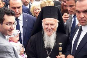 O Πατριάρχης Βαρθολομαίος στη Μονή Βλατάδων
