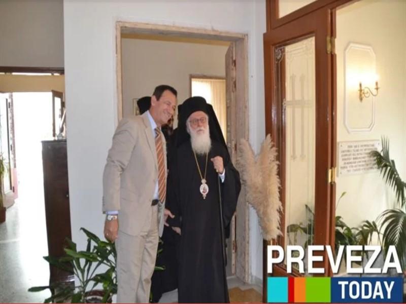 Ο Αρχιεπίσκοπος Αλβανίας Αναστάσιος ανακηρύχτηκε επίτιμος δημότης Πρέβεζας