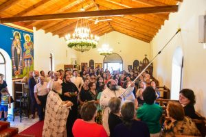Εγκαίνια του  Ιερού Ναού της Ζωοδόχου Πηγής στη Χρυσαυγή Λαγκαδά