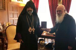 Mε τον Μητροπολίτη Ορθοδόξων Αρμενίων Ελλάδας συναντήθηκε ο Αρχιεπίσκοπος κ. Ιερώνυμος