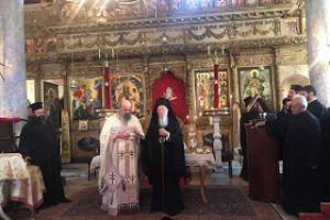 Η θεία λειτουργία του Άγιου Ιακώβου του Αδελφοθεου στο Νιχώρι του Βοσπόρου παρουσία του Πατριάρχου