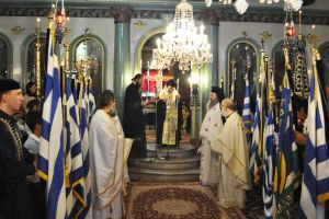 Ο Σεβ. Μητροπολίτης Εδέσσης Ιωήλ, στα 105α ελευθερια της πόλεως των Γιαννιτσων
