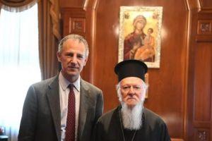 Στον Οικουμενικό Πατριάρχη Βαρθολομαίο, ο Αν.Βοηθός Υπουργός Εξωτερικών των ΗΠΑ