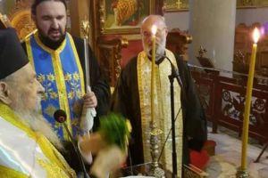 Αγιασμός εσπερινών κηρυγμάτων από τον Λαρίσης Ιγνάτιο