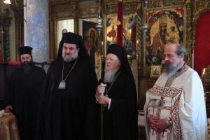 Ο Οικ.Πατριάρχης στο Μετόχι του Παναγίου Τάφου στο Νιχώρι