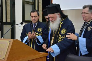 Επίτιμος Διδάκτορας του Πανεπιστημίου Πελοποννήσου ο Αρχιεπίσκοπος