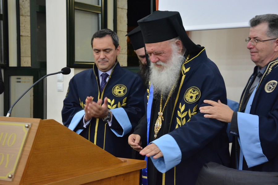 You are currently viewing Επίτιμος Διδάκτορας του Πανεπιστημίου Πελοποννήσου ο Αρχιεπίσκοπος