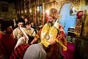Στον Ιερό Ναό των Αγίων Γεωργίου του Τροπαιοφόρου και Δημητρίου του Μυροβλύτου -Μελισσοχωρίου  ιερούργησε  ο Σεβασμιώτατος Μητροπολίτης Λαγκαδά, Λητής και Ρεντίνης κ.κ. Ιωάννης
