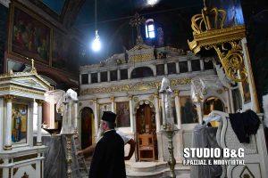 Προχωρούν τα έργα συντήρησης του ιστορικού ναού του Αγίου Σπυρίδωνα στο Ναύπλιο.
