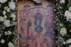 Εσπερινός εορτής της Αγίας Σκέπης στο Κουτλουμουσιανό Μετόχι στα Μέγαρα