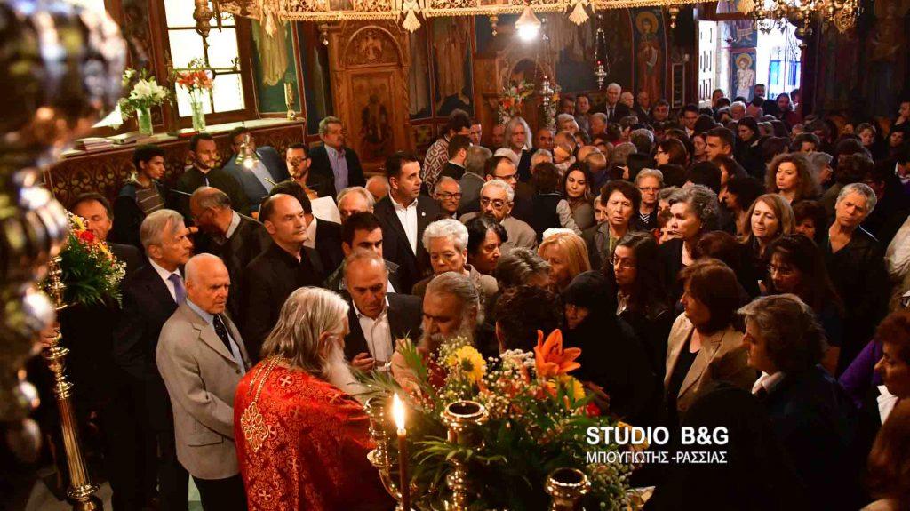 Αρχιερατική θεία λειτουργία στο Βυζαντινό μοναστήρι Αγίου Δημητρίου Καρακαλά Ναυπλίου