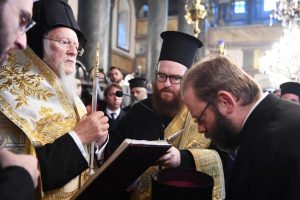 Η Χειροθεσία του Μεγάλου Αρχιδιακόνου Θεοδώρου από τον Οικουμενικό Πατριάρχη