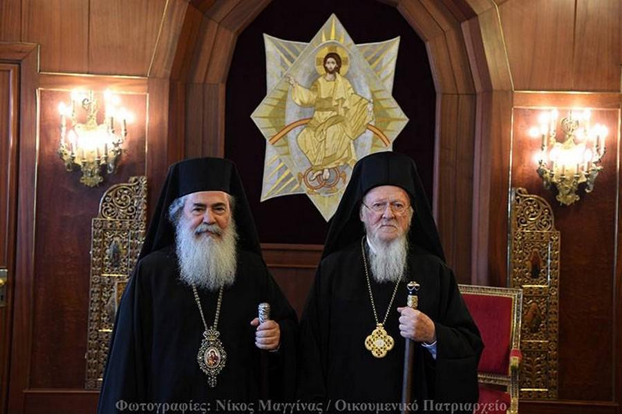 Τη βοήθεια του Βαρθολομαίου ζήτησε ο Θεόφιλος για το αδιέξοδο στο οποίο έχει περιέλθει το Πατριαρχείο Ιεροσολύμων.