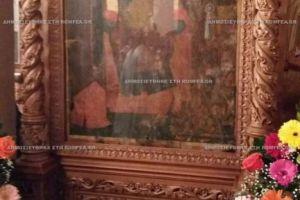 """Ενθρόνιση της εικόνας της Παναγίας """"Οικονόμισσας"""" στην ενορία του Βαλτερού της Ιεράς Μητροπόλεως Σιδηροκάστρου"""