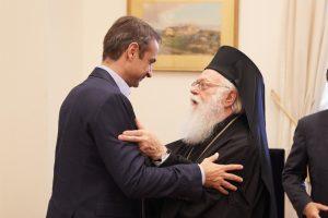Συνάντηση Κυριάκου Μητσοτάκη με Αρχιεπίσκοπο Αλβανίας Αναστάσιο