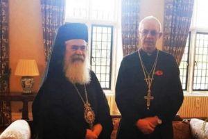 Στο Λονδίνο ο Πατριάρχης Ιεροσολύμων για το θέμα της περιουσίας