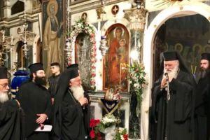Ο Αρχιεπίσκοπος Ιερώνυμος στον Μητροπολιτικό Ναό Λεβαδείας