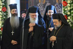 Με την παρουσία του Αρχιεπισκόπου Αθηνών Ιερωνύμου, ο Μέγας Εσπερινός των ονομαστηρίων του Μεσσηνίας Χρυσοστόμου