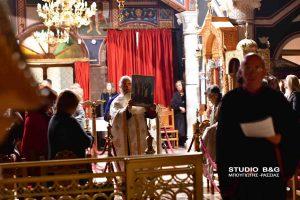 Με ιερά αγρυνπία τίμησαν τους Αγίους Αναργύρους στον ενοριακό ναο Ευαγγελιστριας Ναυπλίου