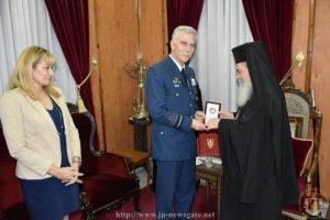 Ο Αρχηγός της Ελληνικής Αεροπορίας στο Πατριαρχείο Ιεροσολύμων