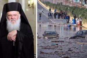 """Αρχιεπίσκοπος Ιερώνυμος: """"Είμαι συγκλονισμένος από την τραγωδία που έπληξε την Δυτική Αττική"""""""